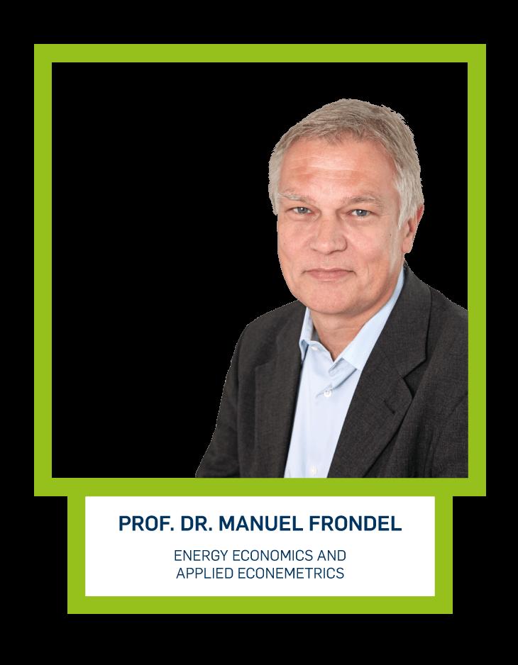 Prof. Dr. Manuel Frondel - Energy Economics and Applied Econemetrics